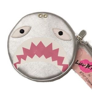NWT Betsey Johnson Luv Betsey Shark Coin Purse